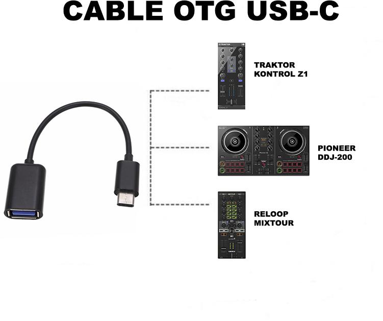 Cable USB OTG Controladoras DJ