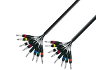 Adam Hall Multicore Cable 8 x 6.3 mm Jack mono to 8 x 6.3 mm Jack mono 5 m