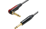 Adam Hall Cables K5 IRP 0600 SP - Cable Neutrik silentPLUG de Jack 6,3 mm mono acodado 6 metros