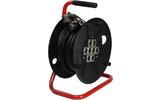 Adam Hall Cables K 8 C 15 D - Manguera de Cable en Enrollador con Cajetín de Escenario 8/0 15 m