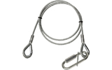 Adam Hall Accessories S 45100 Cable de Seguridad 4 mm con Maillón, 1 m