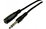 Cable Jack 6.3mm Macho a Hembra Stereo 1.5 metros