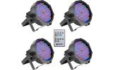 Cameo FLAT PAR CAN RGB 10 IR SET - Set de 4 Focos PAR LED RGB planos Spot