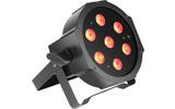 Cameo FLAT PAR CAN TRI 3W IR - Foco PAR LED tricolor RGB plano 7 x 3 W de alta potencia