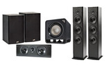 Polk Audio - Altavoces Home Cinema : 2x T-50 + 1x T-30 Central + 1x T-15 Surround + Subwoofer