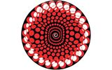 Slipmats Balls red Twin Pack
