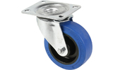 Blickle 37223 - Rueda giratoria 100mm azul