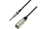 Adam Hall K3BMV1000 - Cable XLR macho a Jack 6.3 stereo 10m