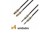 Pack: Cable Rca-Jack 6m (x4)