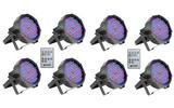 Pack: 8 Focos CLPFLAT1RGB10IR + mando