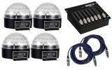 Pack : (4x) Zircon + Controlador + (2x) Cable Dmx 5m