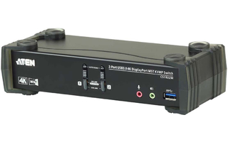 2-Port Conmutador KVM USB 3.0 4K DisplayPort MST Negro - Aten CS1922M-AT-G