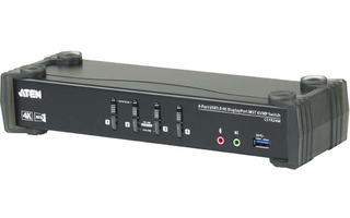 4-Port Conmutador KVM USB 3.0 4K DisplayPort MST Negro - Aten CS1924M-AT-G