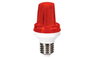 Mini lámpara LED estroboscopica - Casquillo E27 - 3 W - Color Rojo