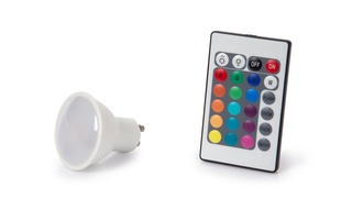 BOMBILLA LED - 4 W - GU10 - COLOR RGB & BLANCO CÁLIDO