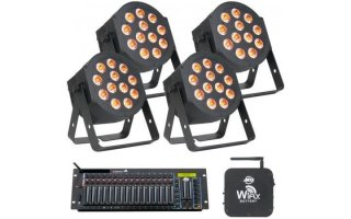 ADJ SET Lighting - 4 x Hex Par + Mesa DMX + WiFly