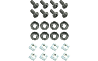 "Adam Hall 19"" Parts 5925 M8 AH - Kit completo para Montaje de 2 Equipos de 19"""