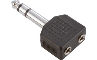 Adam Hall Connectors 7545 Adaptador en Y de 2 Jacks 3,5 mm hembra estéreo a Jack 6,3 mm macho