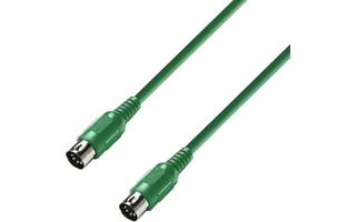 Adam Hall K3MIDI0150GRN - MIDI Cable 1.5m verde