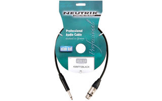 Adam Hall cable Neutrik conector XLR hembra >> Jack mono macho 6.35mm 10 metros