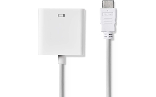 Adaptador compacto HDMI a VGA + Audio ( Blanco )