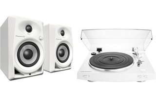Audio Technica AT-LP3 Blanco + Pioneer DM 40 Blanco