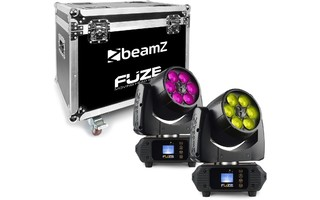 BeamZ Fuze610Z Wash LED 6x10W RGBW Zoom Set con FlightCase