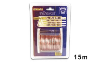 Cable altavoz - Transparente - 2 x 1.00mm² - 15m