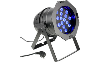 PAR 64 Cameo CAN - 18 x 3 W Color TRI LED PAR Can RGB Negro