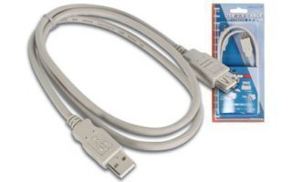Cable USB 2.0 - Macho A / Hembra A 1m
