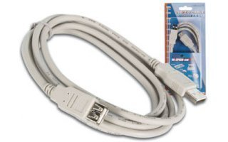Cable USB 2.0 - Macho A / Hembra A 2m