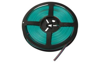 Cable RGB para tiras LED - 4 Conductores - 25M