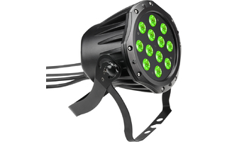 Cameo Outdoor PAR TRI 12 IP 65 - Foco Outdoor PAR LED tricolor RGB 12 x 3 W con carcasa negra