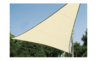 VELA DE SOMBRA PERMEABLE - TRIANGULAR - 5 x 5 x 5m - COLOR: BEIGE