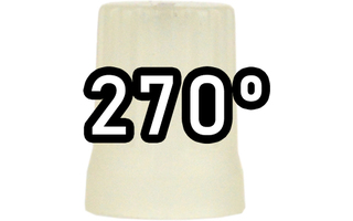 Chroma Cast Super knob 270º -  Glow in the dar plastic