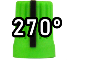 Chroma Cast Super knob 270º -  Green