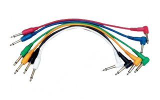 Yellow Cables ECOP090CD-6 - Juego de 6 cables patch 90 cm Jack Mono a Jack Mono acodado