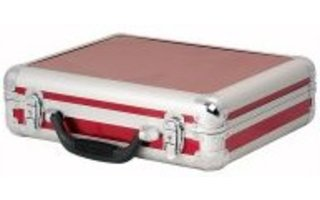Flightcase para 7 microfonos - Color Rojo