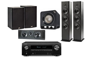 Denon AVR-X1500H + Polk Audio: 2x T-50 + 1x T-30 Central + 1x T-15 Surround + HTS Sub 10