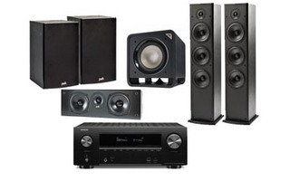 Denon AVR-X2500H + Polk Audio: 2x T-50 + 1x T-30 Central + 1x T-15 Surround ( Pareja ) + HTS Sub