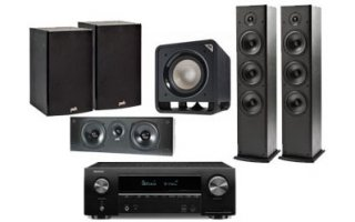 Denon AVR-X2600 + Polk Audio: 2x T-50 + 1x T-30 Central + 1x T-15 Surround + HTS Sub 10