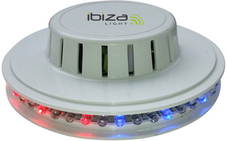 Efecto LED UFO Blanco 48 LEDs RVB 10mm