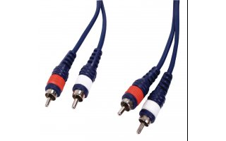 Instrument cable 2 rca male l/r <gt/> 2 rca male l/r 3.00 m