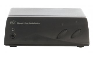 Manual 2 port audio switch