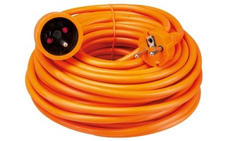 Cable prolongador - 20 m - color naranja