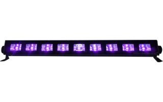 Ibiza Light Bar LED UV - Luz negra 9 x 3 W