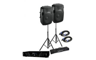 Ibiza Pack Sound XTK15 + Power 100 + Tripode con cables