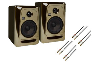KRK RP5 G3 SET Oro & Negro - Cables 2x RCA >> 2x RCA