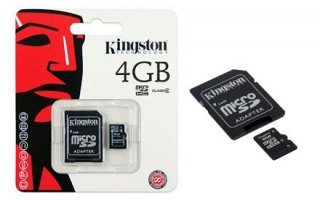 KingSton SecureDigital/4GB microSDHC Class 10