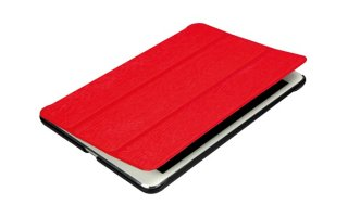 FUNDA CON BANDA ELÁSTICA PARA iPAD MINI - COLOR ROJO